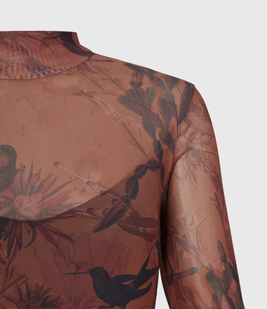 Women's Hanna Nolina Dress (cinnamon_brown) - Image 5