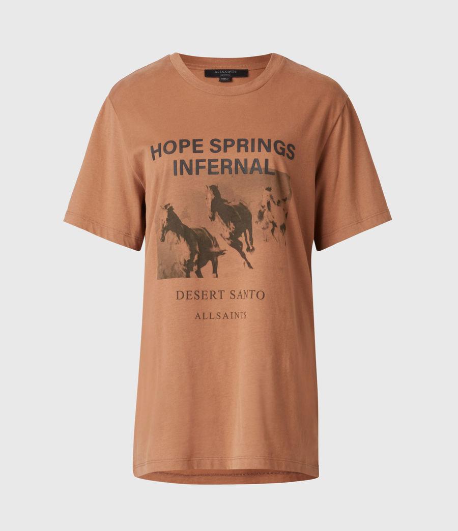 Women's Santo Boyfriend T-Shirt (conker_brown) - Image 2