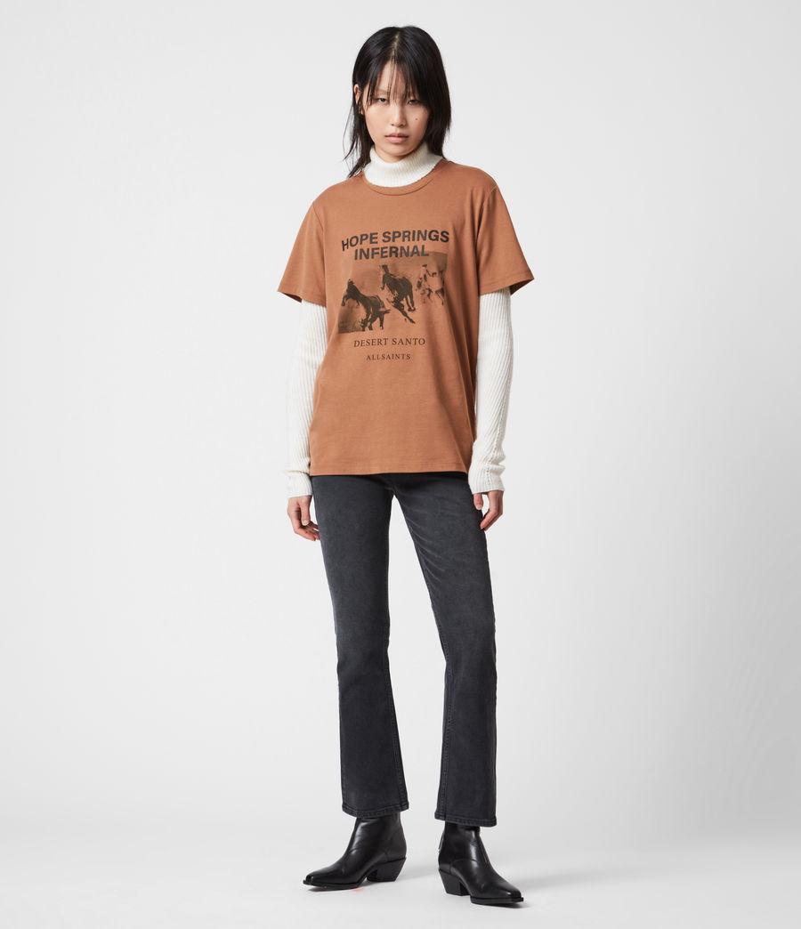 Women's Santo Boyfriend T-Shirt (conker_brown) - Image 4