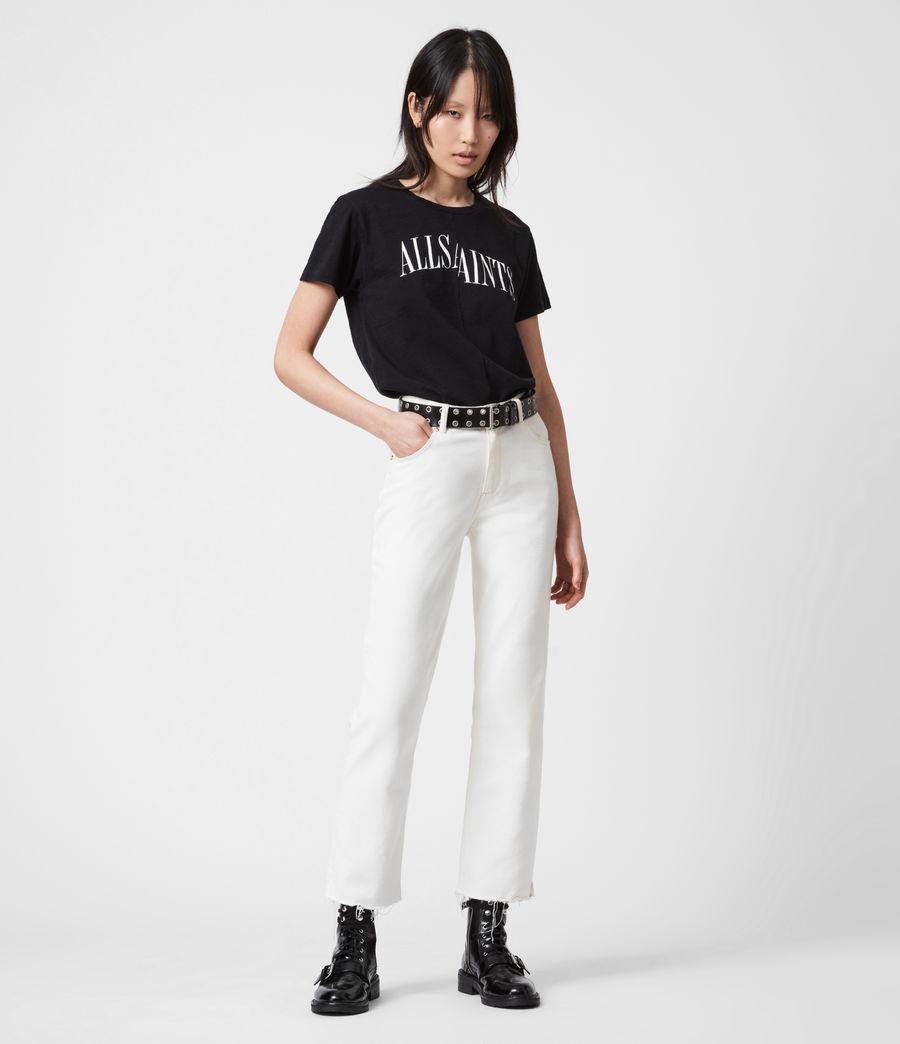 Damen Dropout Mic T-Shirt (black) - Image 4