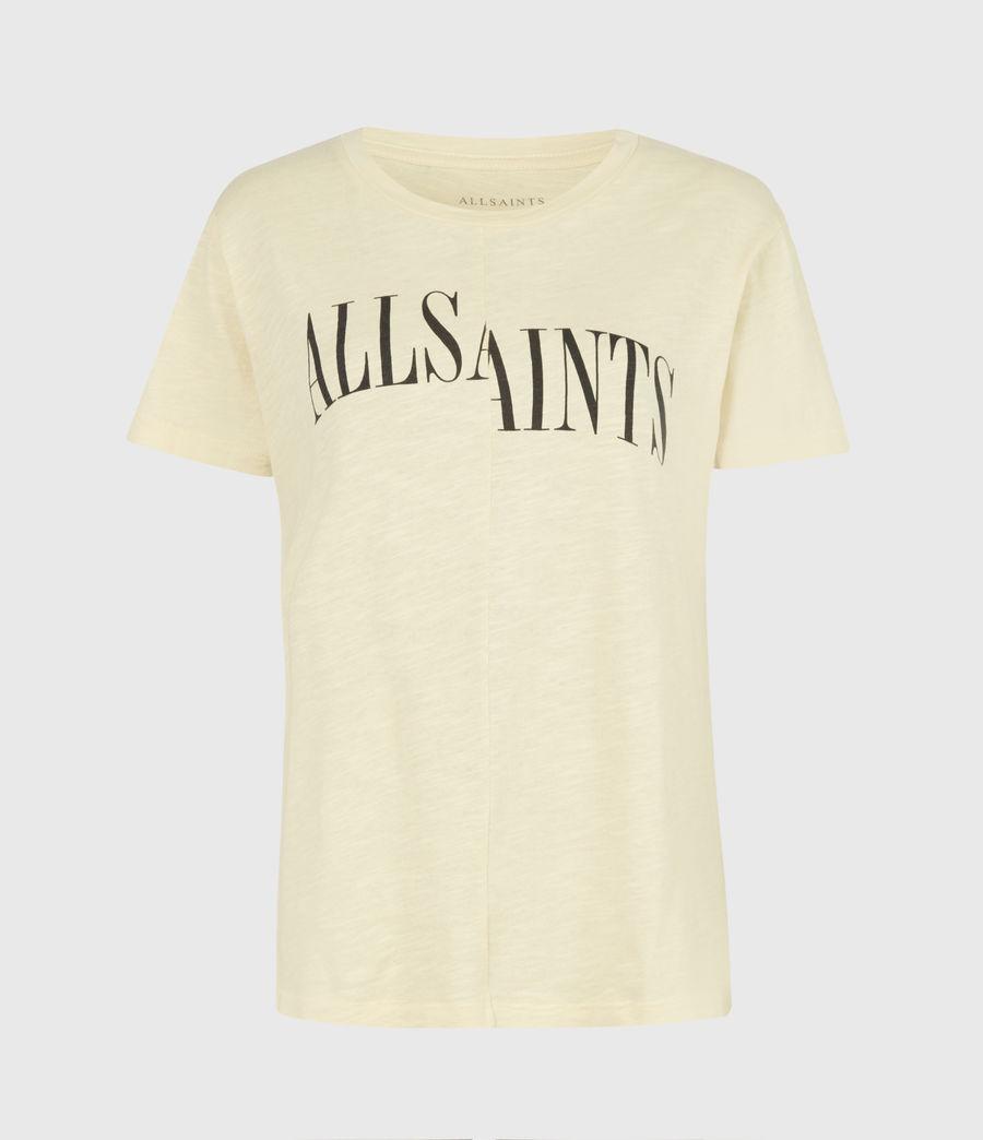 Damen Dropout Mic T-Shirt (sunstone_yellow) - Image 2