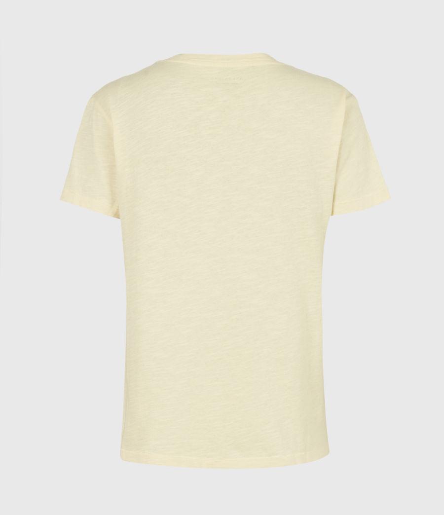 Damen Dropout Mic T-Shirt (sunstone_yellow) - Image 3