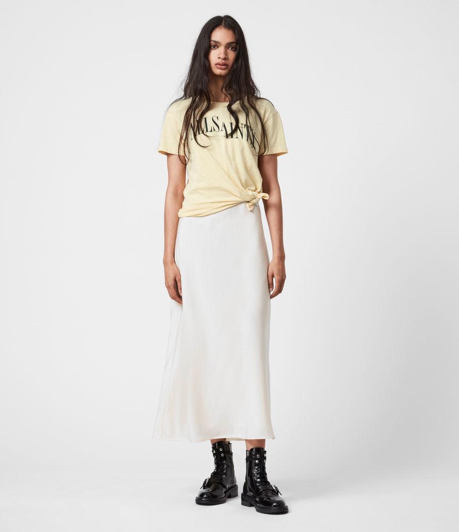 Damen Dropout Mic T-Shirt (sunstone_yellow) - Image 4