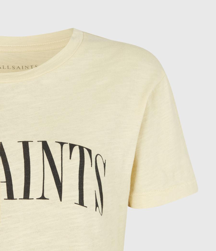 Damen Dropout Mic T-Shirt (sunstone_yellow) - Image 5