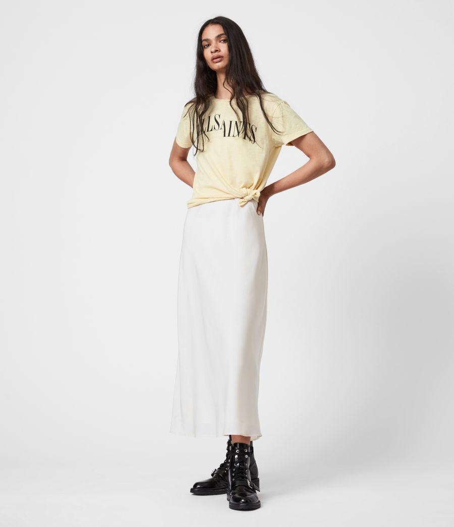 Damen Dropout Mic T-Shirt (sunstone_yellow) - Image 7