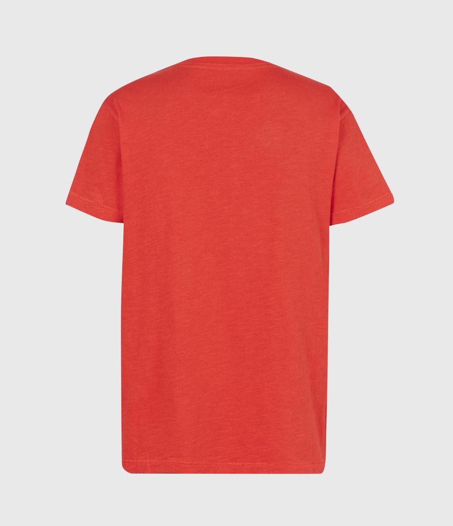 Womens Dropout Mic T-Shirt (bright_orange) - Image 3