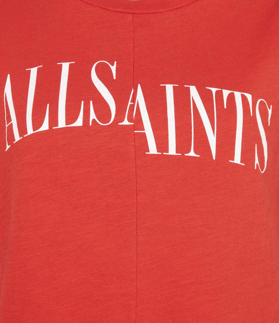 Womens Dropout Mic T-Shirt (bright_orange) - Image 6