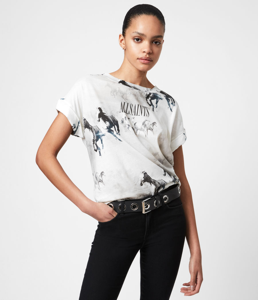 Womens Santo Imogen Boy T-Shirt (optic_white) - Image 1