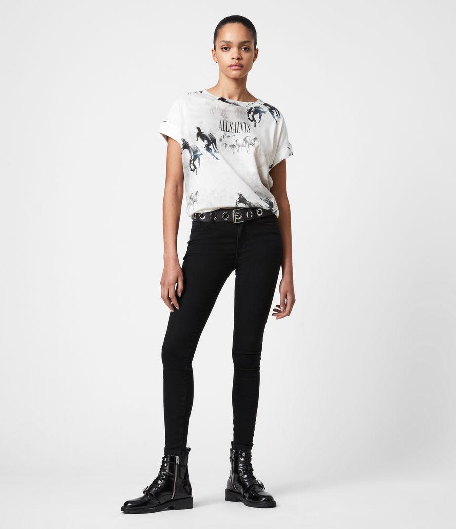 Womens Santo Imogen Boy T-Shirt (optic_white) - Image 4
