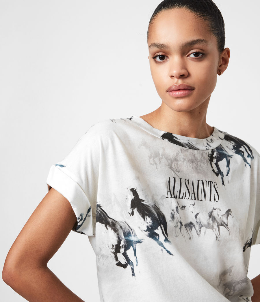 Womens Santo Imogen Boy T-Shirt (optic_white) - Image 7