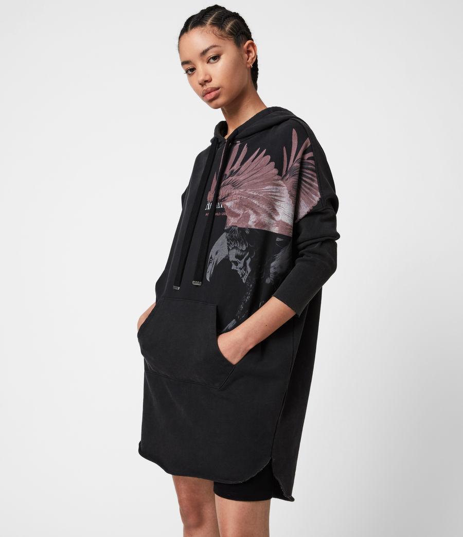 Damen Aquila Hoodie Kleid (vintage_black) - Image 1