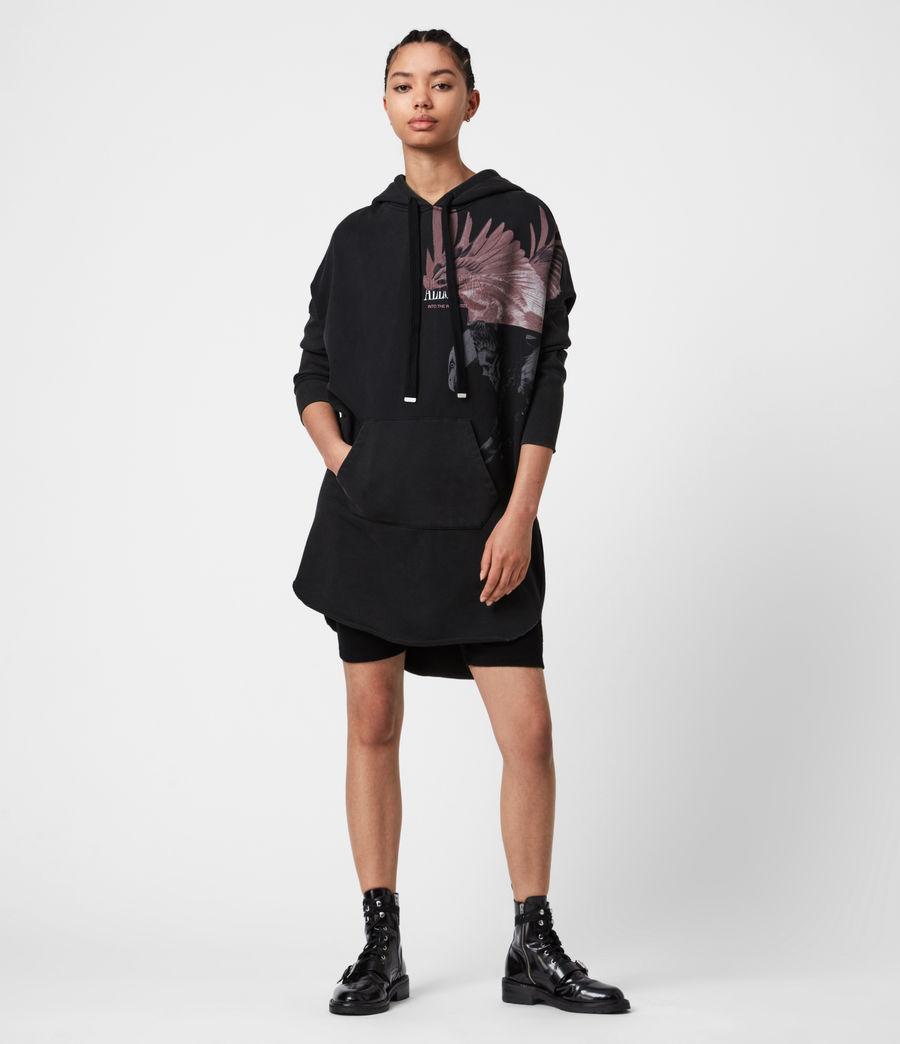 Damen Aquila Hoodie Kleid (vintage_black) - Image 4