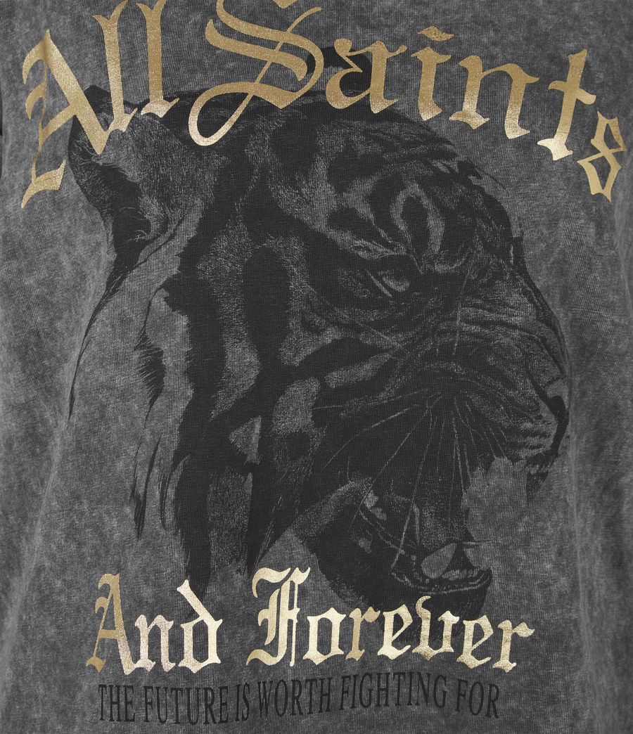 Womens Forever Tiger Anna T-Shirt (acid_washed_black) - Image 6