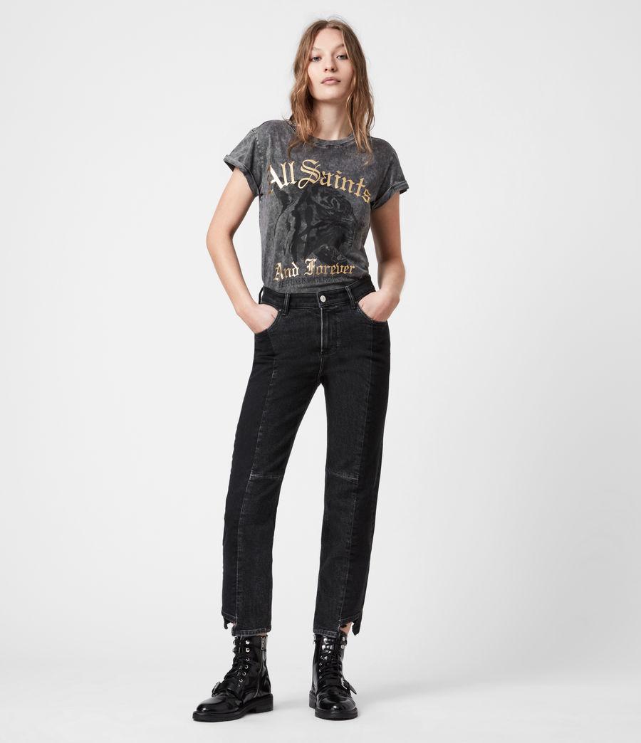 Womens Forever Tiger Anna T-Shirt (acid_washed_black) - Image 8
