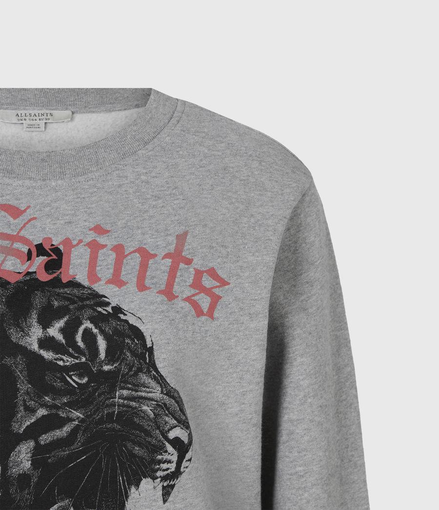 Womens Forever Tiger Tessa Sweatshirt (grey_marl) - Image 5