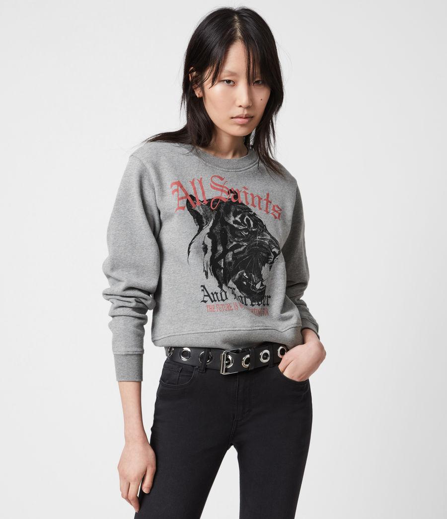 Womens Forever Tiger Tessa Sweatshirt (grey_marl) - Image 7
