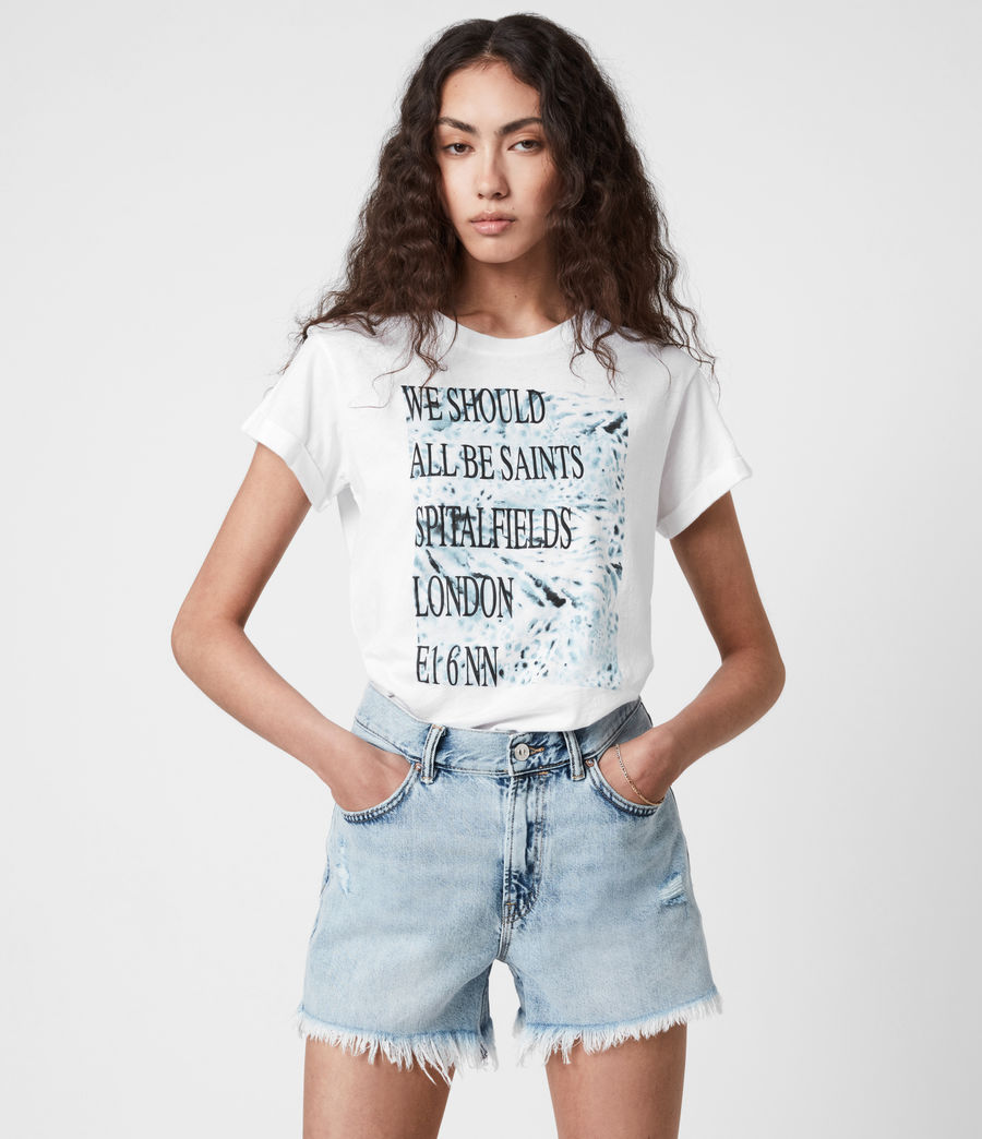 Womens Boxsaints Anna T-Shirt (optic_white) - Image 1