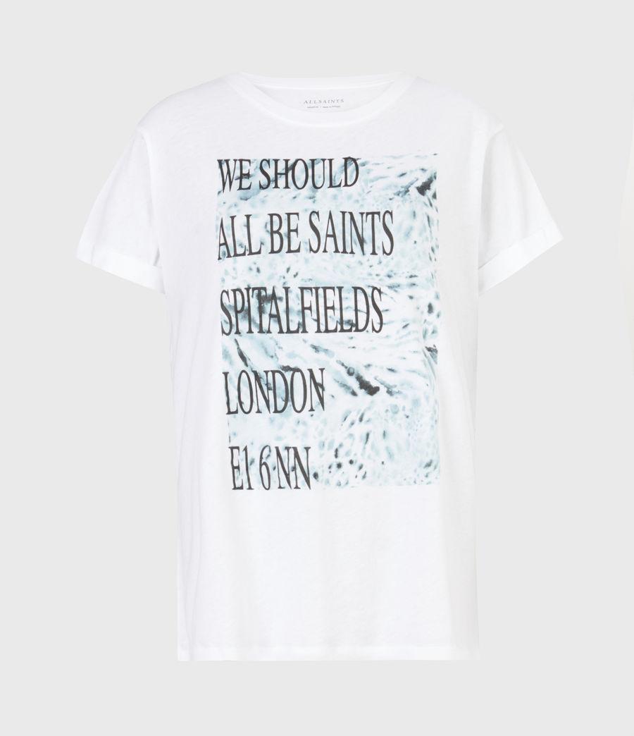 Womens Boxsaints Anna T-Shirt (optic_white) - Image 2