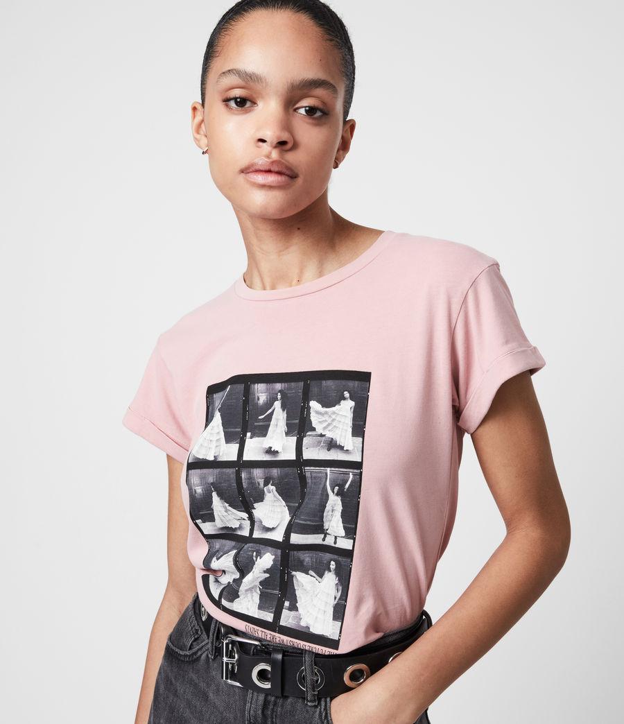 Womens Livo Anna T-Shirt (vintage_pink) - Image 4