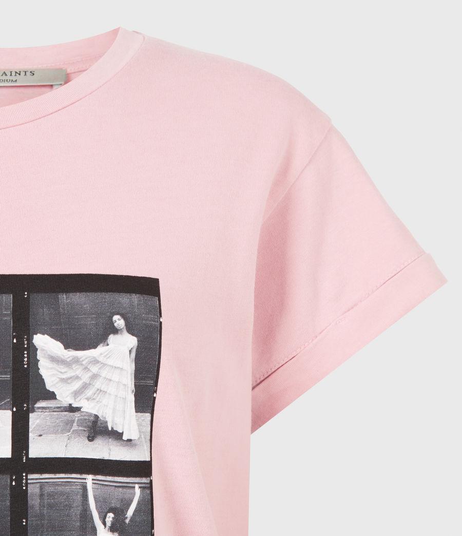Womens Livo Anna T-Shirt (vintage_pink) - Image 5