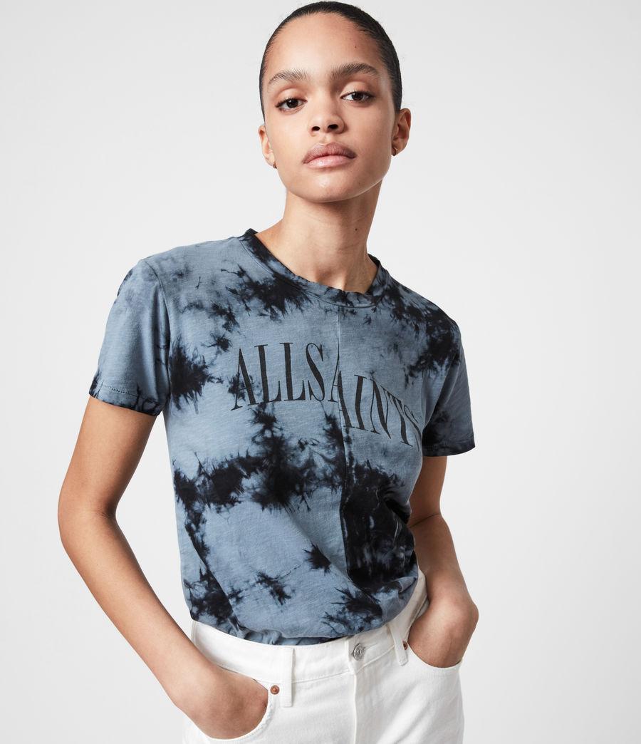 Women's Dropout Mic Tie Dye T-Shirt (washed_black) - Image 1