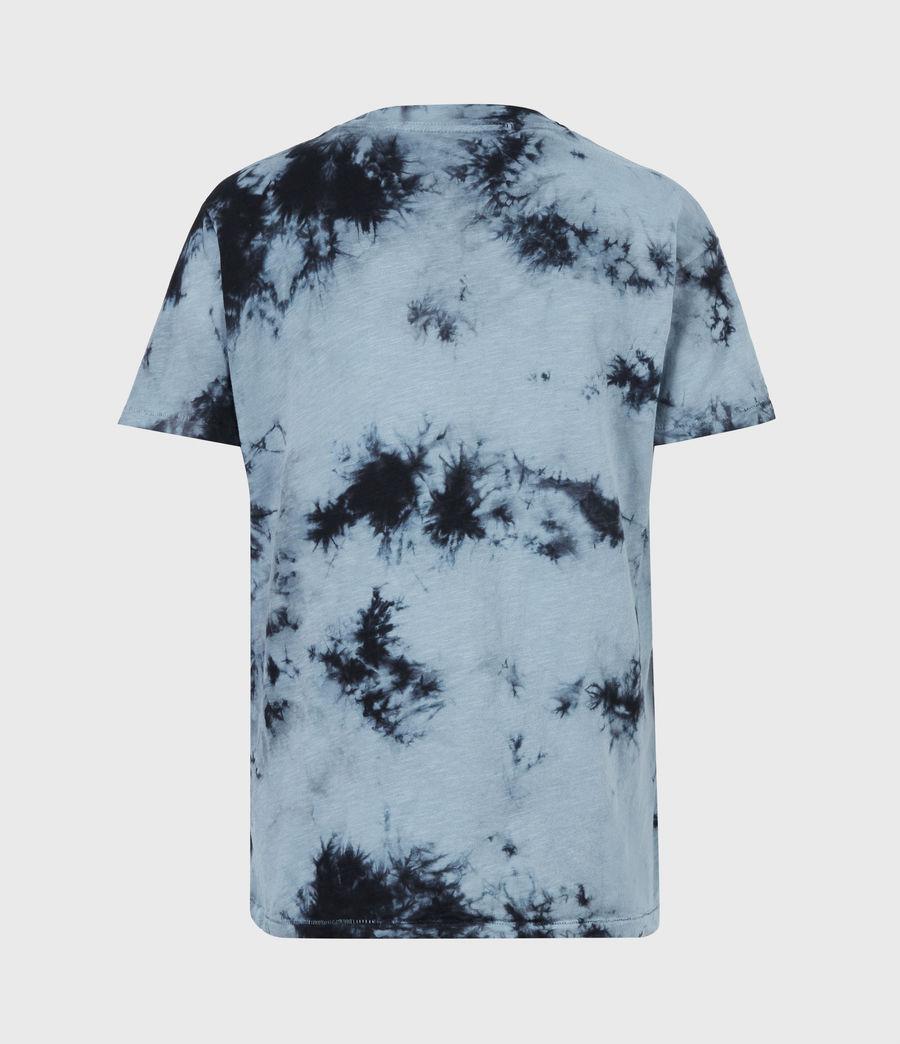 Women's Dropout Mic Tie Dye T-Shirt (washed_black) - Image 3
