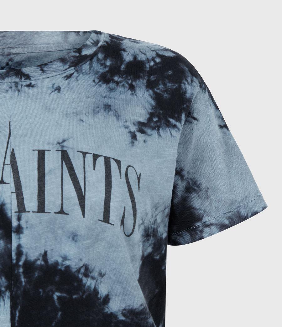 Women's Dropout Mic Tie Dye T-Shirt (washed_black) - Image 5