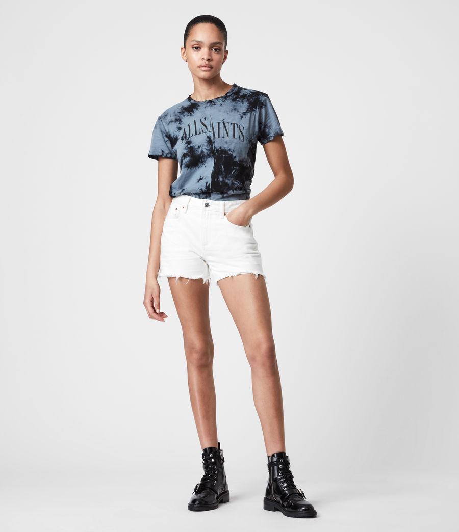 Women's Dropout Mic Tie Dye T-Shirt (washed_black) - Image 6