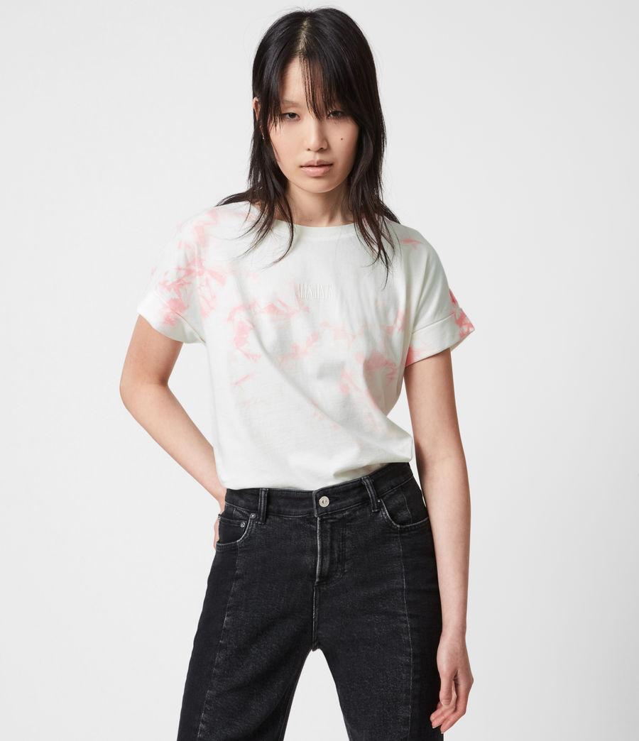 Womens Stamp Imogen Tie Dye T-Shirt (ash_rose_pink) - Image 1