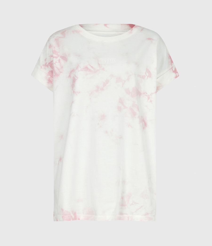 Womens Stamp Imogen Tie Dye T-Shirt (ash_rose_pink) - Image 2