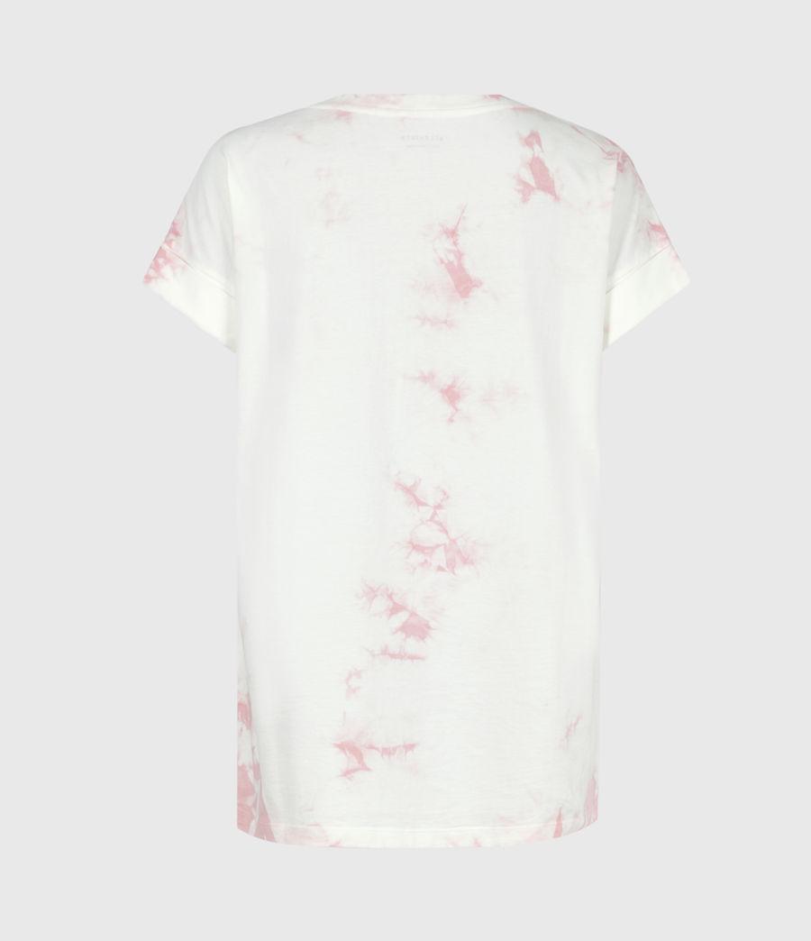 Womens Stamp Imogen Tie Dye T-Shirt (ash_rose_pink) - Image 3