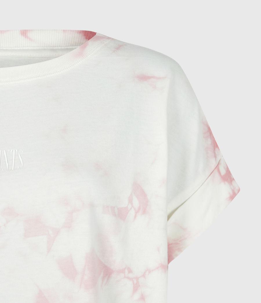 Womens Stamp Imogen Tie Dye T-Shirt (ash_rose_pink) - Image 5