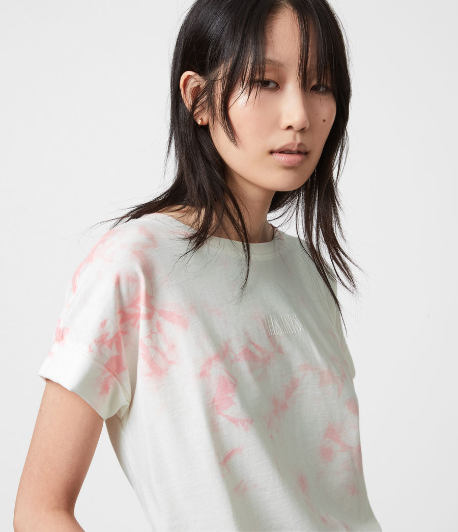 Womens Stamp Imogen Tie Dye T-Shirt (ash_rose_pink) - Image 7