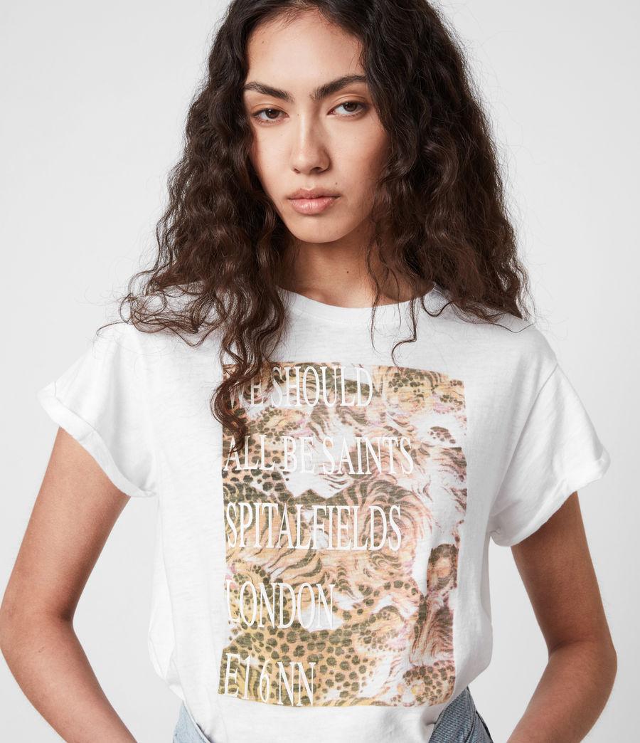 Femmes BoxSaints Pryde Anna T-Shirt (optic_white) - Image 4