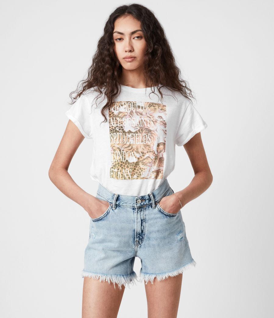 Femmes BoxSaints Pryde Anna T-Shirt (optic_white) - Image 5