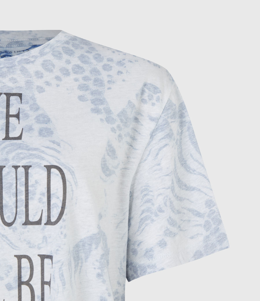 Women's Reverse Boyfriend T-Shirt (blue) - Image 5