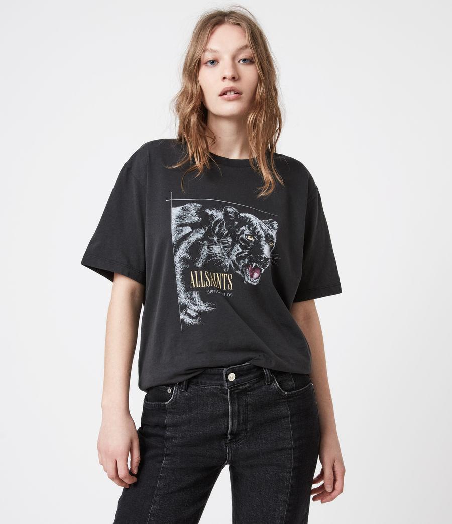 Women's Panthera Boyfriend T-Shirt (black) - Image 1