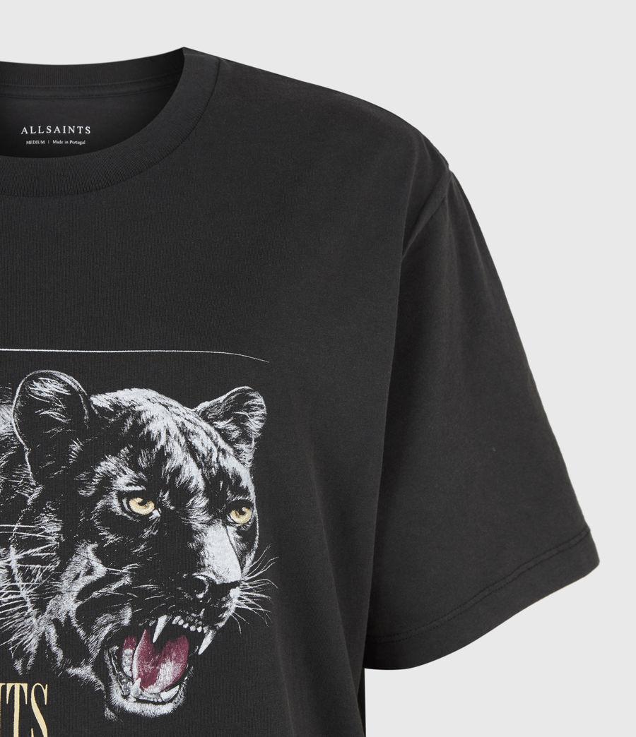 Women's Panthera Boyfriend T-Shirt (black) - Image 5