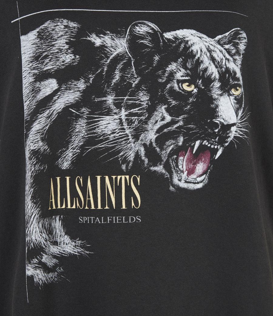 Women's Panthera Boyfriend T-Shirt (black) - Image 6