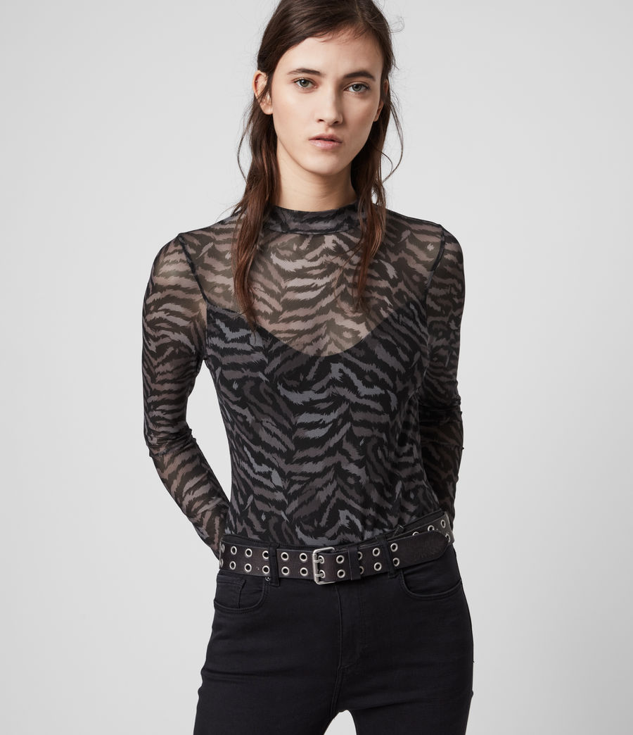 Womens Remix Elia Bodysuit (grey) - Image 4