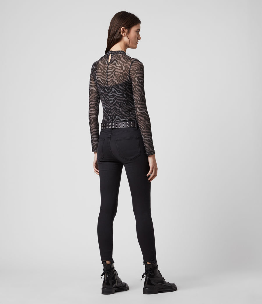 Womens Remix Elia Bodysuit (grey) - Image 5