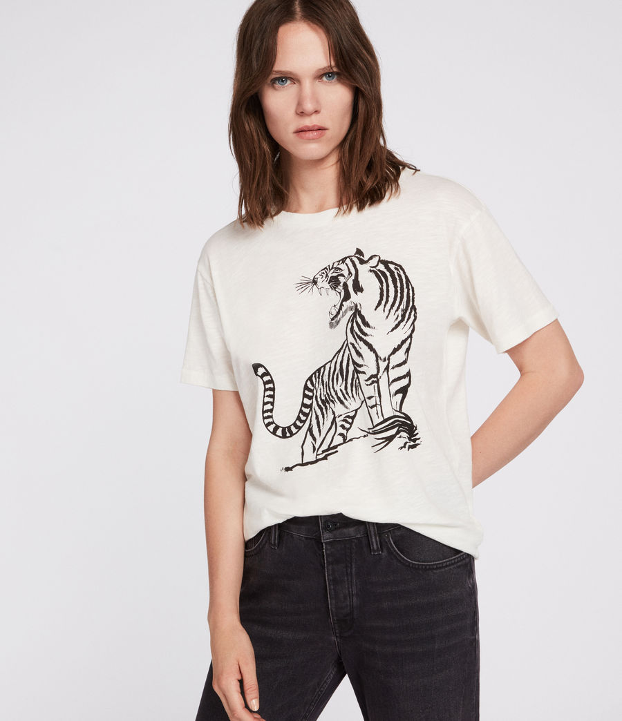 Womens Tory Mic T-Shirt (chalk_white) - Image 1