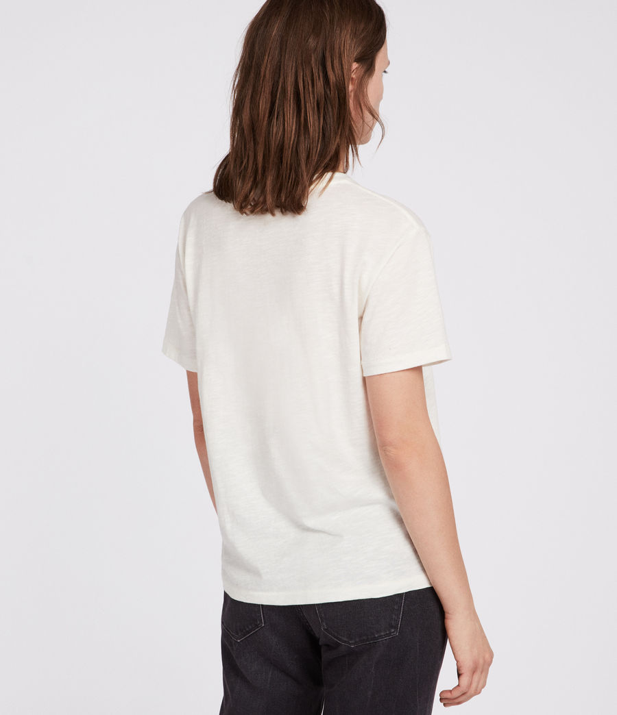 Womens Tory Mic T-Shirt (chalk_white) - Image 3