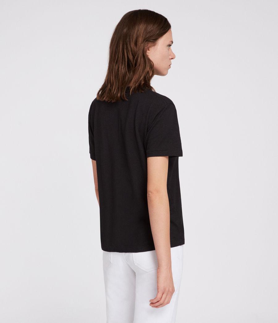 Womens Tory Mic T-Shirt (black) - Image 4