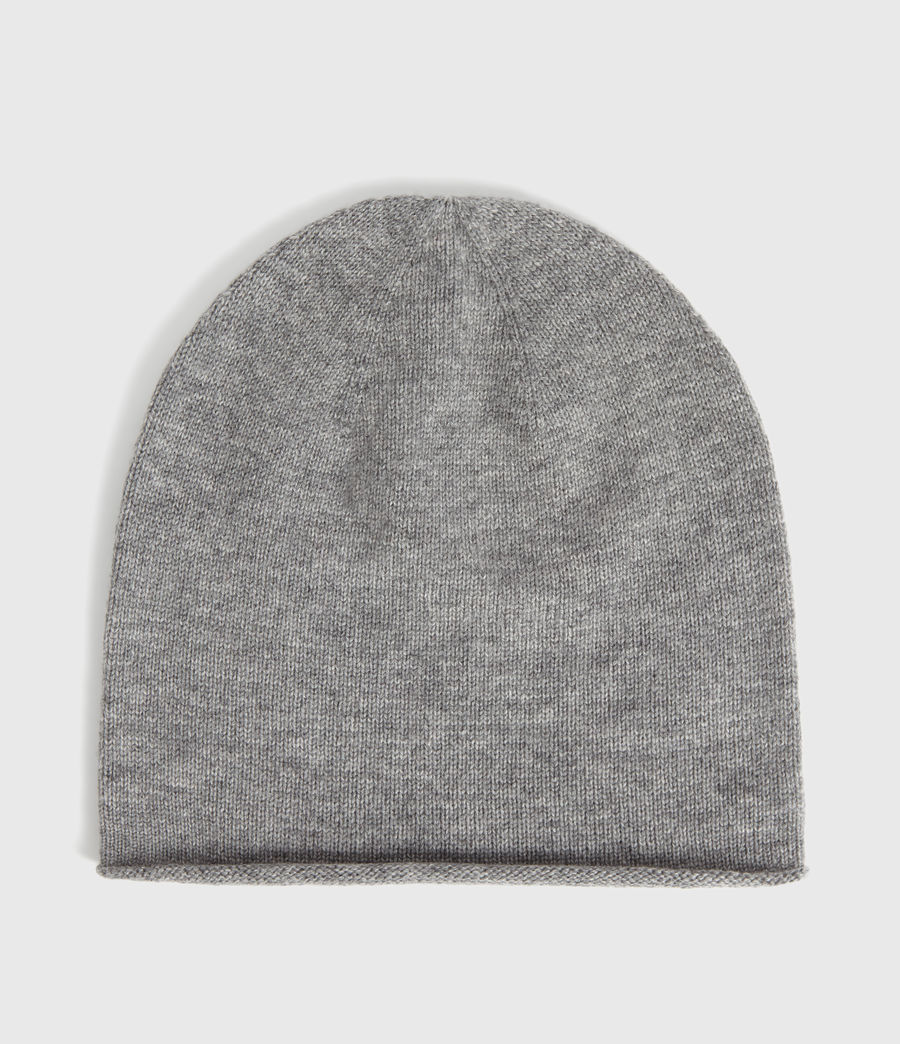 Damen Self Rolled Edge Beanie Mütze (pale_grey) - Image 5