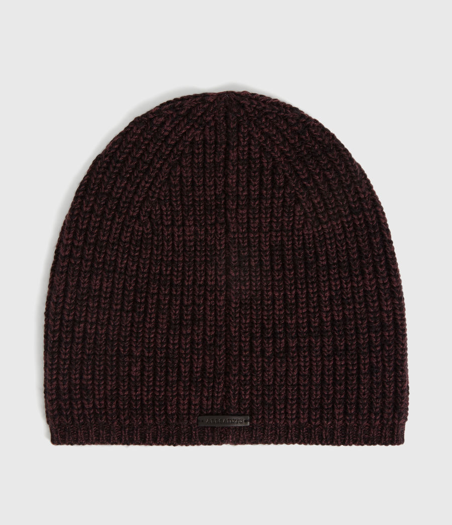 Womens Twisted Wool Blend Beanie (port_black) - Image 1