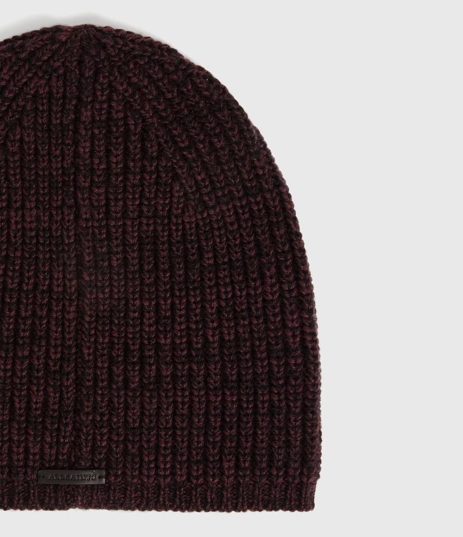 Womens Twisted Wool Blend Beanie (port_black) - Image 3