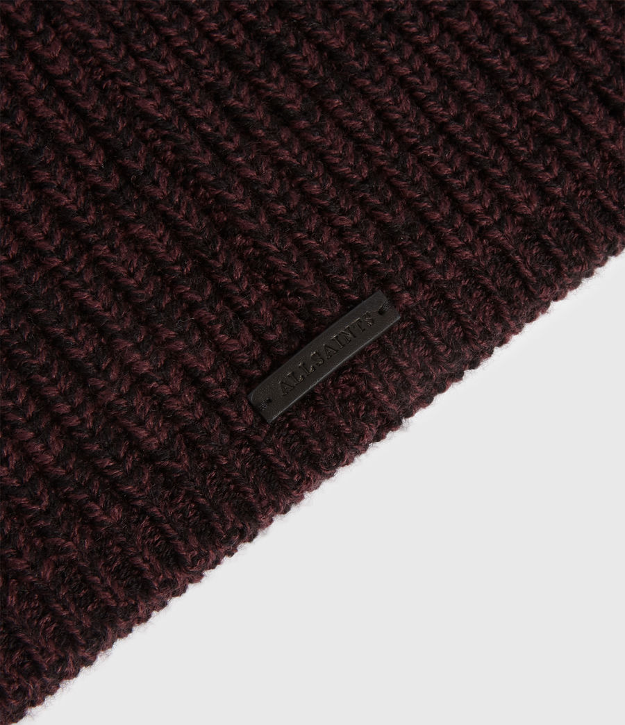 Womens Twisted Wool Blend Beanie (port_black) - Image 4