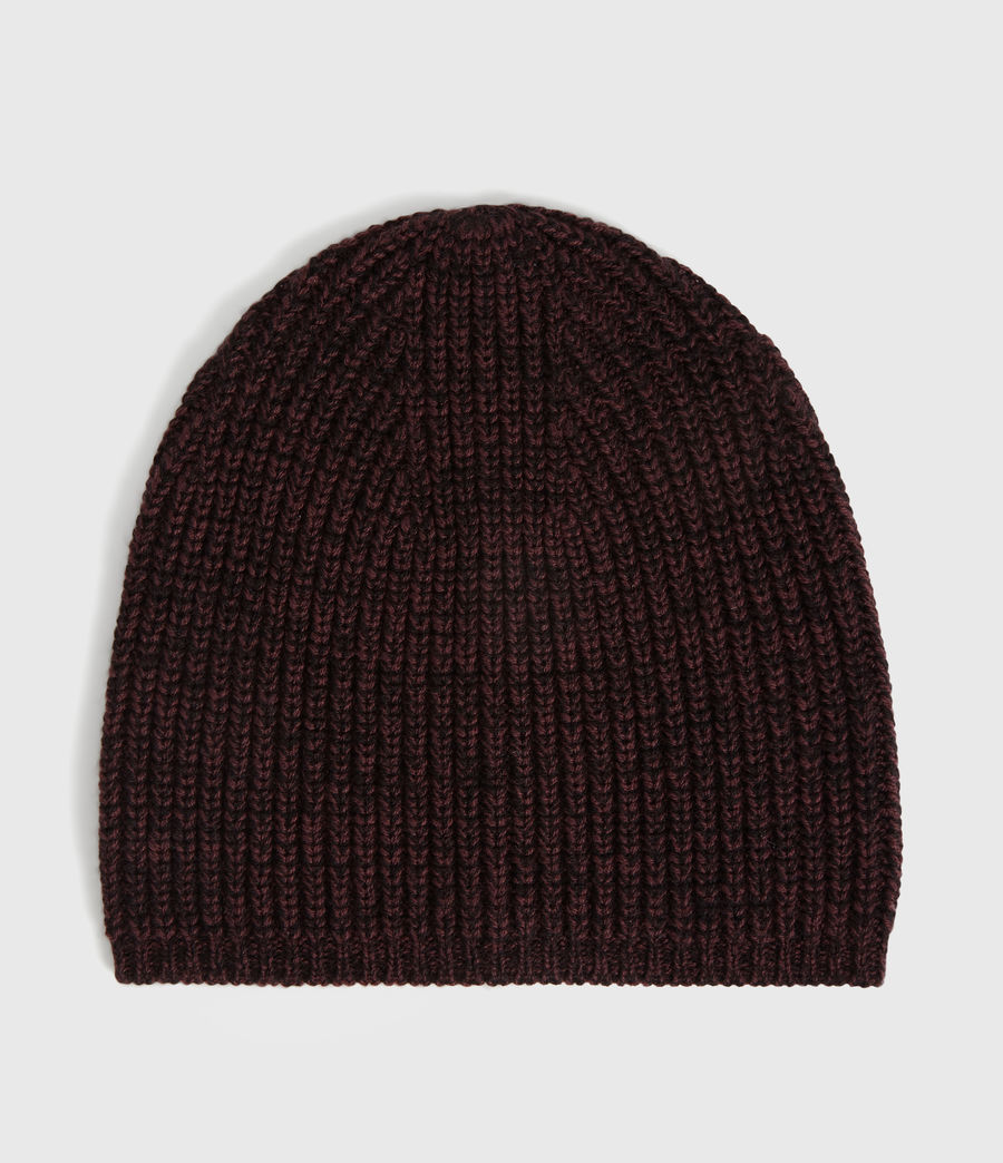 Womens Twisted Wool Blend Beanie (port_black) - Image 5