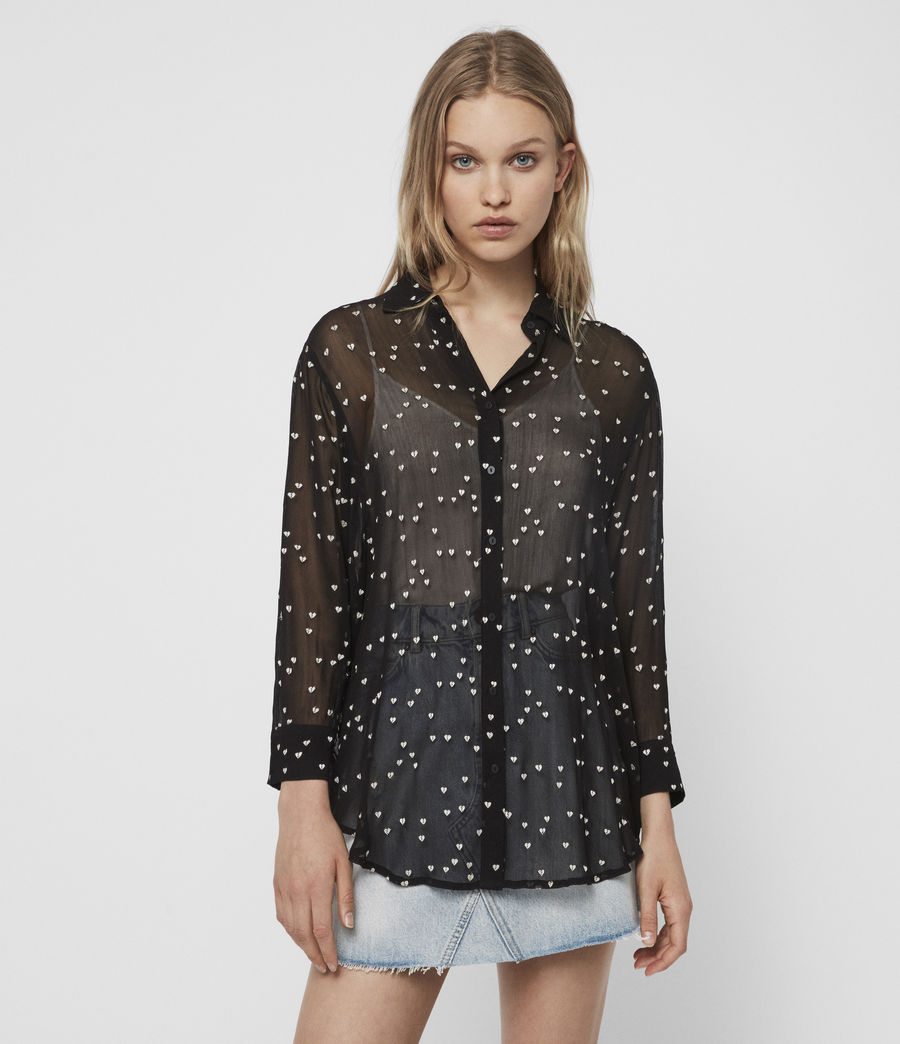 Women's Mariana Hearts Shirt (black) - Image 3